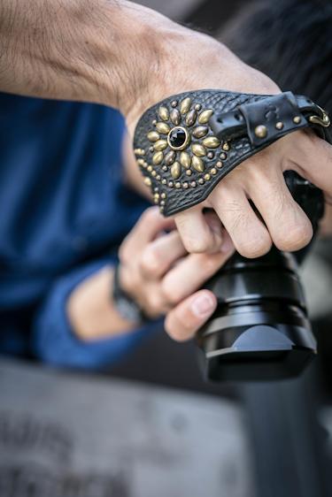 レザーカメラハンドストラップ/ミラーレスカメラ仕様