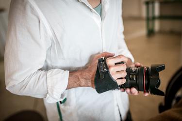 レザーカメラハンドストラップ/一眼レフカメラ仕様