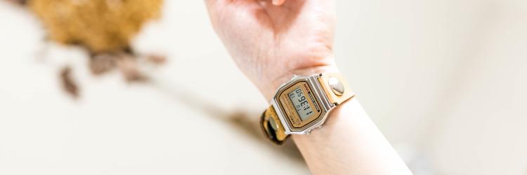 本革 レザー 腕時計 チープカシオ チプカシ 改造 ヴィンテージ