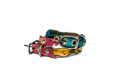 本革 レザー 首輪 小型犬 猫 ペット カラー