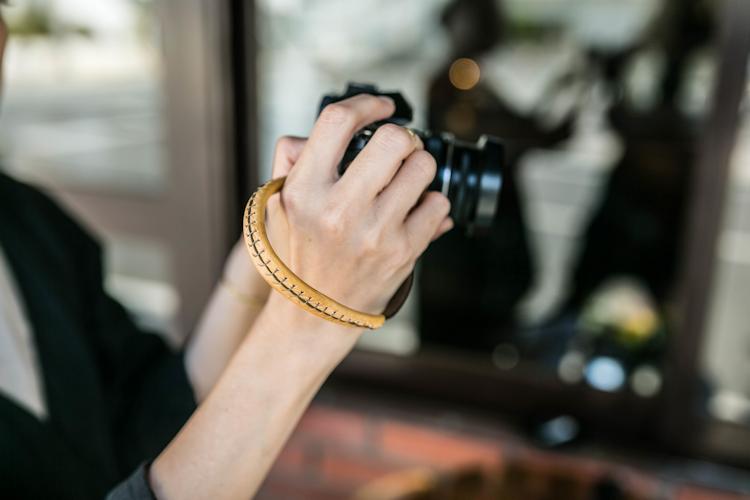 本革 レザー カメラストラップ ハンドストラップ ヴィンテージ